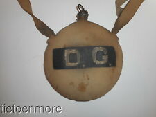 """SPANISH AMERICAN WAR US SOLDIER CANTEEN W/ CORK STRAP MARKED """"L7"""" """"43"""""""