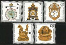 Germany 1992 MNH - Art - Clocks Turret Astronomical Mantel Flute Table Clock