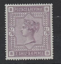 Vic - 1883. SG178. 2s 6d Lilac. Letters B-B. Very fresh unmounted mint.