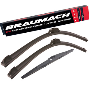 Front Rear Wiper Blades for Ssangyong Rodius GAB SUV 2.7 Xdi 2004-2018