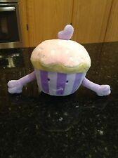 "Target Circo Cupcake Mini Plush 7"" Purple Striped Pink Plush Sprinkles Heart HTF"