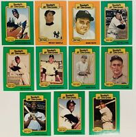 (11) All-Time Greats Baseball Card Lot Hank Aaron Mickey Mantle Ty Cobb