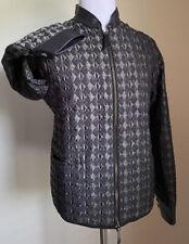 New $2795 Giorgio Armani Men Jacket Coat Black /Gray 40 US ( 50 Eu ) Italy