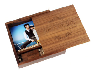 Personalised Wooden Usb with Photo Box, 32GB USB 3.0 * Special Day Memories *