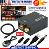Optical Coax Toslink Digital to Analog Converter RCA L/R Stereo Audio Adapter US