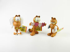 Garfield === 3 x familia Garfield figuras corazón + Ángel + cojines Plastoy