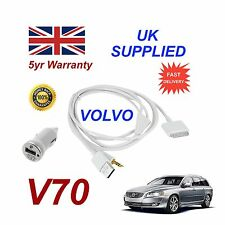 VOLVO V70 For Apple iPhone 3gs 4 4s iPod Audio Cable & 1.0A Power Adapter w