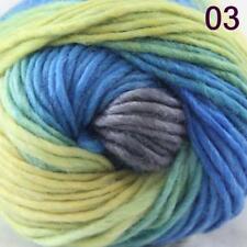 Aip Sale 1 Skein x50g Rainbows Coarse Hand Knit Quick Wool Yarn Shawl Scarves 03