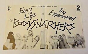 "THE BODYSNATCHERS EASY LIFE TWO / 2 TONE 1980 7"" CHS TT 12 PROMOTIONAL FLYER"