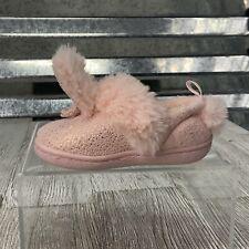 IGUB Girls Toddler Indoor Outdoor Slipper Rabbit Pink Faux Fur Size 3