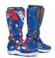 Sidi Crossfire 3 SRS Boots - White Blue Red Fluo UK 9 EU 43