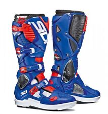 Sidi Crossfire 3 SRS MX Boots White Blue Red Fluo UK 10.5 EU 45