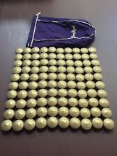 Lot of 100 Crown Royal Canadian Whiskey Bottle Caps W/ Purple Bag Craft Project
