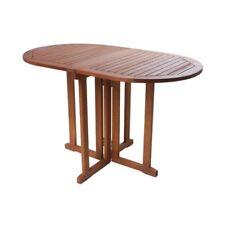 Gartentisch BALTIMORE oval klappbar Holz Gartenmöbel Klapptisch Balkontisch