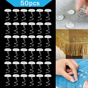 50pcs Headliner Twist Pins Kit For Upholstery Fabric Sofa Chair Repair Crafts US