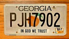 GEORGIA ON MY MIND   LICENSE PLATE/TAG ~PJH7902~