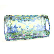 Claude Monet Water Lily Pond Medium Rectangle Melamine Coffee Snack Serving Tray