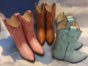 Gran Lider Premium Leather Western Boots Size 22 to 25 / US Women Size 6 to 9