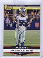 2016 Panini Instant Football #418 David Irving Dallas Cowboys Rookie Card /95