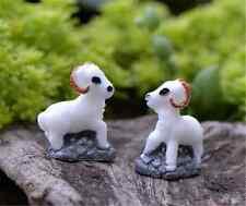 2pcs Mikro Süß Ziegen Miniatur Bonsai Feengarten Landschaft Deko