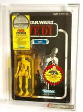 Vintage Kenner Star Wars Rotj 77 Back-B 8D8 (moneda Oferta) AFA 80 (80/85/85 (Moc