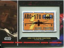 Star Wars Galactic Files Embroided Patch Relic Card PR-16 Clone Pilot