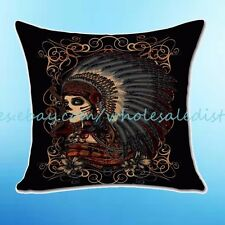 Sugar Skull death cushion cover decorative pillow cases covers decorative pillow