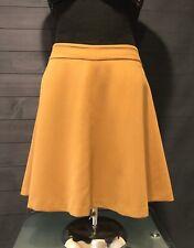 Ann Taylor Loft Mustard Yellow A-line Above Knee Skirt Back Zipper Sz 6 J210