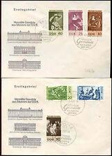 Germania est DDR 1967 dipinti FDC PRIMO GIORNO DI Copertura Set #c34514