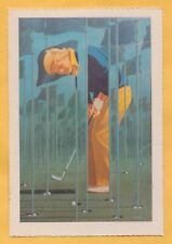 1981 JACK NICKLAUS Smithsonian Institute Golf Sports Card painting DEADLY STROKE