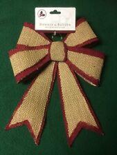 Burlap Tree Topper Primitive Christmas Bow