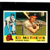 7679* 1960 Topps # 420 Ed Mathews NM