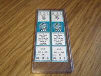 Lot of 2-1993 Full Unused Ticket Stubs Miami Marlins vs. NY Mets Inaugural Yr.