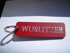 JUKEBOX WURLITZER LEATHER KEYRING FOB, FOR MACHINE