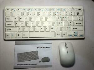 ENGLISH UK LAYOUT WHITE Wireless Small Keyboard and Mouse for SAMSUNG SMART TV'S