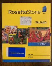 Rosetta Stone (27823) for PC, Mac Italiano Level 1 Version 4 -please Read-