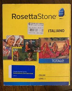 Rosetta Stone (27823) for PC, Mac Italiano Level 1 Version 4 -please Read-