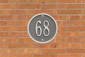 "Round 6"" Diameter Personalized Address Plaque"