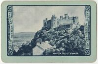 Playing Cards 1 Swap Card Old Vintage GWR GREAT WESTERN RAILWAY Harlech Castle 1