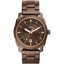 NEW FOSSIL FS5370 Machine Three-Hand Date Brown Stainless Steel Watch