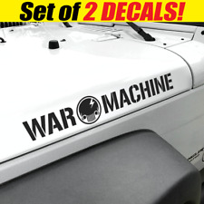WAR MACHINE Jeep Skull Side Hood Vinyl Decals Fits Wrangler CJ YJ TJ JK JL Army
