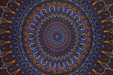 3D Eclipse Tapestry Tablecloth Trippy Hippie Festival Sheet Wall Art HUGE 60x90""
