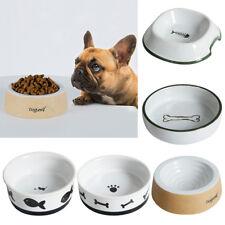 New Dog Cat Pet Feeder Feeding Bowl Water Dish Feeder Round Ceramics 5 Types