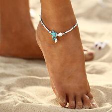 Starfish Anklet Pearl Drop Beaded Ankle Bracelet Women NEW