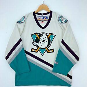 Mighty Ducks Anaheim Ccm Vintage Jersey Size Small White Nhl Hockey 90s