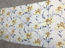 Gold yellow flowers grey leaves soft blackout material crafts remnant fabric