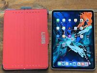 "Apple iPad Pro 11"" 2018 Model, 1TB WiFi + 4G LTE Cellular Unlocked, UAG Case"
