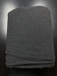 Restoration Hardware Heathered Cotton Cashmere King Duvet Cover Charcoal Grey
