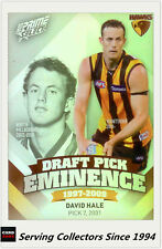 2013 Select AFL Prime Draft Pick Eminence Card DPE50 David Hale (Hawks)