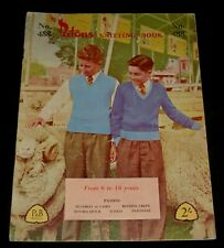 VINTAGE 1960s PATONS KNITTING BOOK # 488  BOYS TOPS  JUMPERS
